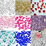 5000 Diamond Scatter Crystals Wedding Table Decoration by Wedding Bliss – Clear – Choose From Many Colours - For 6-10 tables