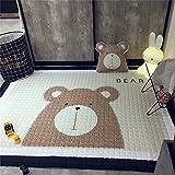 Zinsale Große Verdicken Baby Krabbeldecken Baumwolle Spielmatte Kindergarten Aktivität Pad Krabbelmatte (Bär)
