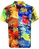 V.H.O. Funky Camicia Hawaiana, Mondy Surf, Multicolore, XXL
