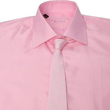 Lanutta Mens Shirt and Tie Set in Pink Wedding Shirts XXXL Chest ...