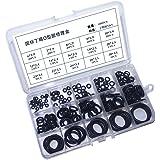 200 stuks 15 maten rubberen ringen - zwarte nitril O-ringen, geassorteerde rubberen grommets keukenkraan wasmachine voor meng