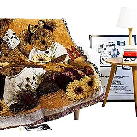 Mr Fantasy 100% toalla de algodón tejido manta con flecos de punto colcha decorativo para sofá