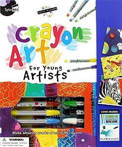 SpiceBox sp22348Petite Picasso Gama Crayon Art Kit para jóvenes Artistas