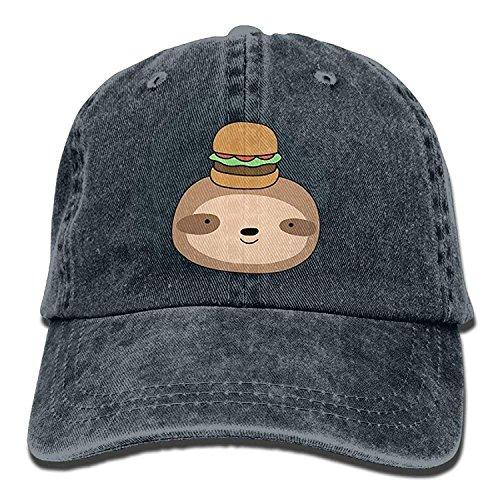 Presock Hamburger Sloth Adult Cowboy Hat Baseball Cap Adjustable Athletic Customizable Awesome Hat for Men and Women Sox Mlb-snap