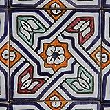 Orientalische Keramik Fliesen handbemalte marokkanische Motiv Fliese Zehra 10 x 10 cm
