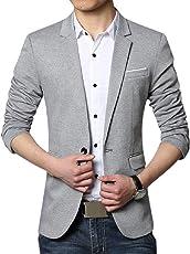 Menjestic Men's Slim Fit Formal/Party Blazer 2/Colours