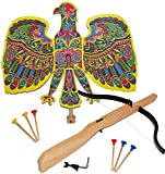Set : Vogelschießen - Bogenschießen - Vogel Adler bunt - 49 cm * 46 cm + Armbrust & Pfeile