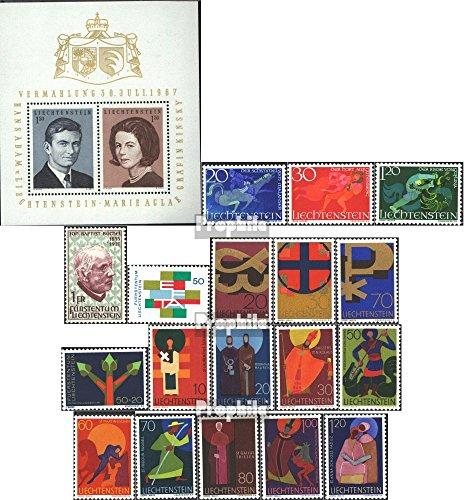 Liechtenstein 474-494 (kompl.Ausg.) Jahrgang 1967 komplett 1967 Hochzeit, Kirchenpatrone, Europa u. (Briefmarken für Sammler)