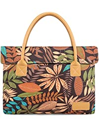 Kinmac 13 Inch Maple Leaf Coffee Waterproof Lightweight Slim Laptop Bag Sleeve Case Briefcase For 11 Inch 12 Inch...
