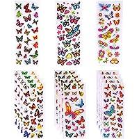 LOKIPA 24 Sheet 3D Puffy Butterfly Stickers 500+ Kid