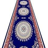 QiangDa Flur Teppich Läufer Langflor Teppiche Lang Gang Kunststoffkörnchen Rutschfest Decke Oberfläche Weich Europäischer Stil, Dicke 6 mm (Farbe : 1#, Größe : 1m x 2m)