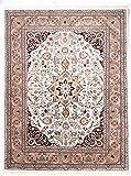 Nain Trading Täbriz Bela IN 255x195 Orientteppich Teppich Beige/Dunkelbraun Handgeknüpft Indien