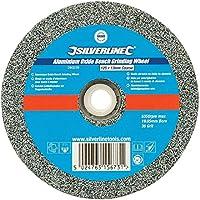 Silverline 280239muela de óxido de aluminio para esmeriladora de banco (, gris