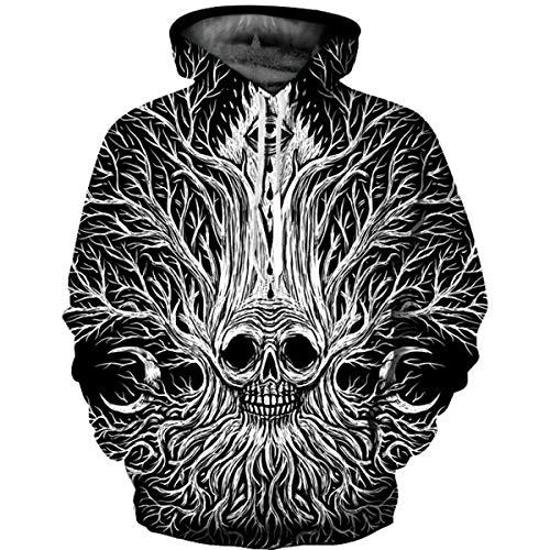 XULONG 3D Printed Unisex Realistic Hoodies, Long Sleeve Hoodies Pullover Drawstring Hooded Big Pockets Sweatshirts for Men Es and Women ' S,M