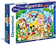 Clementoni - 24473 - Supercolor Puzzle - Disney Family - 24 Maxi Pieces