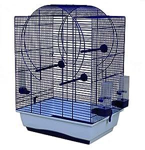 duvo cage oiseau blanc noir avec accessoire pour oiseau. Black Bedroom Furniture Sets. Home Design Ideas