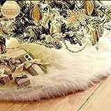 MMilelo Christbaumständer Decke Baumdecke Weihnachtsbaumdecke Christbaumständer Weihnachtsdecke Weihnachtsbaum Dekorationen Weihnachtsbaum Abdeckung Runde Christbaumdecke für Weihnachtenbaum (Weiß)