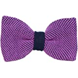 40 Colori - Papillon a maglia a pois in pura seta