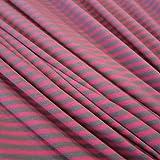 Stoff Meterware Jersey Ringeljersey Streifen gestreift pink grau
