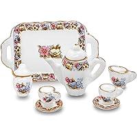 WIN86haib Decoration Parts Toys 8Pcs Mini Ceramics Teapot Cup 1/12 Dollhouse Miniature Model Toy Decor Set
