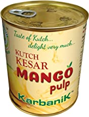 Karbanik Kesar Mango Pulp 850 Grams (Made in Kutch)