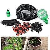 VERY100 25m Gartenschlauch 30 Stück Töpfe Bewässerung Sprinkler für Anlagen Blume Tropschlauch Mikro Bewaesserungssystem Perlschlauch Pflanzen Tropfbewässerung