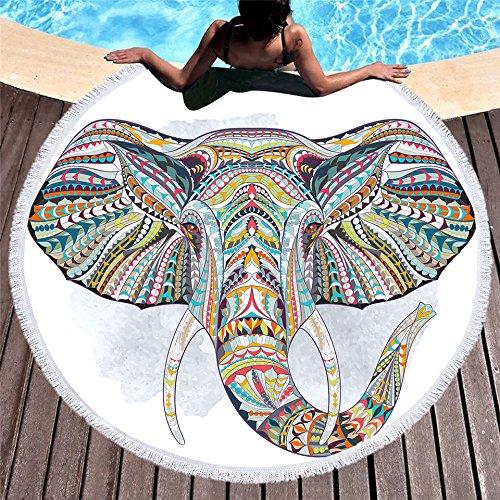 Rundes Strandtuch Mikrofaser Große Stranddecke Mit Quasten Yoga Handtuch Mehrzweck Super Soft Super Saugfähiges Wasser Picknick Tischdecke Tapisserie Dick