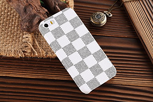 HEIL® iphonese * Schnell Garantie Erfüllt von Amazon * Neue eleganten hohen Qualität PU Leder Checker Pattern Wallet Style Flip Cover Fall für Apple iPhone5 5s iPhone SE 5 5S (Wallet Iphone 5 Gucci)