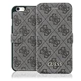 Guess 4G Uptown Collection Coque pour iPhone 5 SE/5s Gris