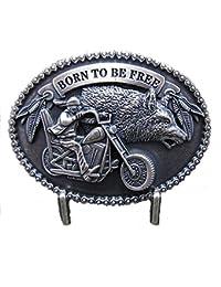 Sharplace Western Buckle G/ürtelschnalle Western Motorrad Biker
