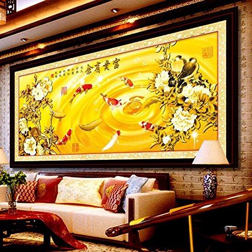 Punto croce, fiore, Pesce, stile cinese, p0159