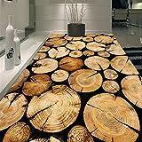 LoaiZh Pvc Selbstklebende Boden Küchenboden Bäume Holz 3D Tapete Wandbild Wandaufkleber Wallpaper 400cmX300cm