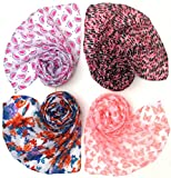 #6: Letz Dezine Printed Poly Cotton Set of four mullticoloured stoles; scarf and stoles for women