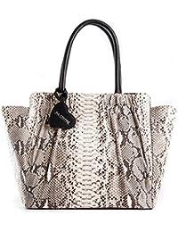 Passione Borsa Big Bon Bon Bags - Shopper da donna in vero pitone roccia a  mano f79496b4e39b