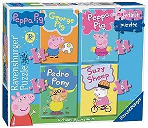 Ravensburger My First Puzzle, Peppa Pig (2, 3, 4 y 5 piezas) Puzzles de sierra