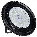200W LED UFO Industrielampe, Fluterlicht Hallenstrahler, Wasserdicht IP65 Werkstattbeleuchtung Kaltweiße Lagerhallenbeleuchtung, 24000lm Arbeitsleuchte für Werkstätten und Fabrikhallen von Ankishi