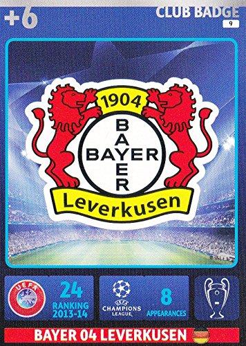 champions-league-adrenalyn-xl-2014-2015-bayer-leverkusen-club-badge-14-15