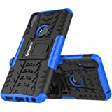 Bracevor Hybrid Back Cover Kickstand Case for Asus Zenfone Max Pro M1 - Blue | Rugged Defender