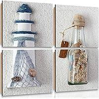 Feeby Frames, Cuadro de pared - 4 partes - Cuadro decorativo, Cuadro impreso,