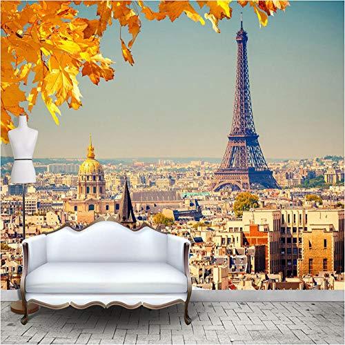 Die Maple Leaf Gardens (Benutzerdefinierte jeder größe 3D Tapeten Eiffelturm Europäischen Stadt Maple Leaf Bild Für Wohnzimmer Schlafzimmer TV Hintergrund Wandbild Tapete)