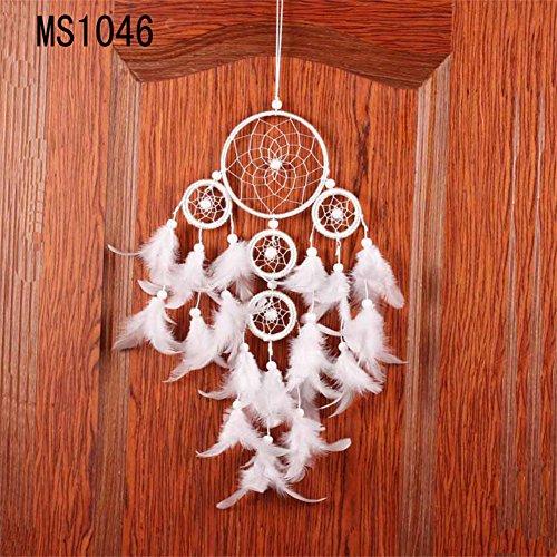 Acchiappasogni a rete con piume, realizzato a mano in stile tradizionale degli indiani d'America, decorazione da appendere alla parete o in auto, in vari stili, ottima idea regalo LD243 LD237