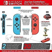 Paire de manettes Joy-Con gauche bleu néon/droite rouge néon + Code de téléchargement pour Snipperclips : Les deux font la paire