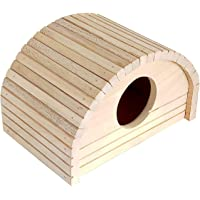 KSK Wooden Wood House for Small Animals Hamsters and Mice Cage Toy Chew Toy Hamster Hideout Toys
