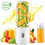 LuckLife Portable Glass Juicer Blender, Personal Juicer Cup USB Rechargeable Household Fruit Mixer-Six Blades in 3D...