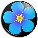 Badge 25mm Fleur Myosotis Francs-Maçons Symbole Maçonnique Pins Bouton Epinglette