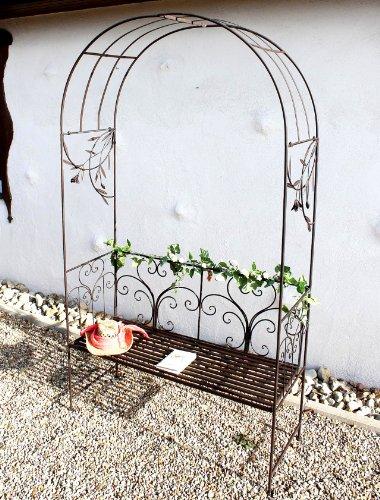 DanDiBo Rosenbogen mit Bank 130472 Metall 236 cm Gartenbank Spalier Pergola Kletterhilfe