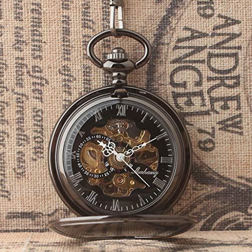 Taschenuhr, Klassische Retro einfache Glatte Abdeckung mechanische, geeignet for Geburtstag, Urlaub, Gedenkgeschenk Männer und Frauen Uhren