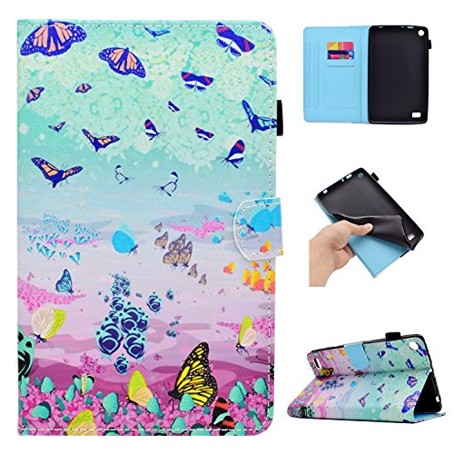 Fall Butterfly Kindle (GSWAY XX-PU-KF72015-10 Tablet-Schutzhülle, Kindle Fire HD 7