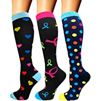Diu Life Compression Socks for Women & Men Circulation 3 Pairs 20-25 mmHg is Best Support for Athletic Running Cycling