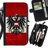 Graphic4You Österreich Österreichisch Flagge Zipper